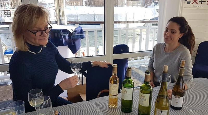 Vinprovning ombord på MS Molly