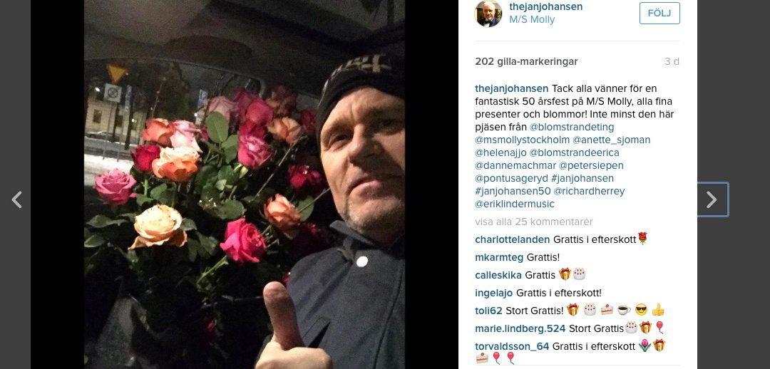 Jan Johansen firade sin 50 årsdag på M/S Molly